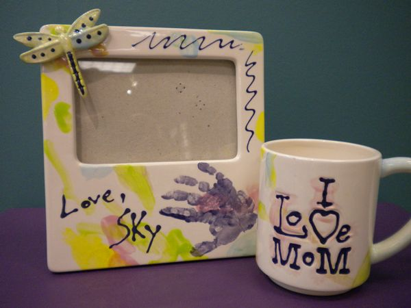 I Love Mom Mug & Message Frame
